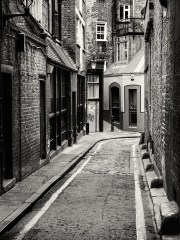 Jack the Ripper terrorized Whitechapel, London.