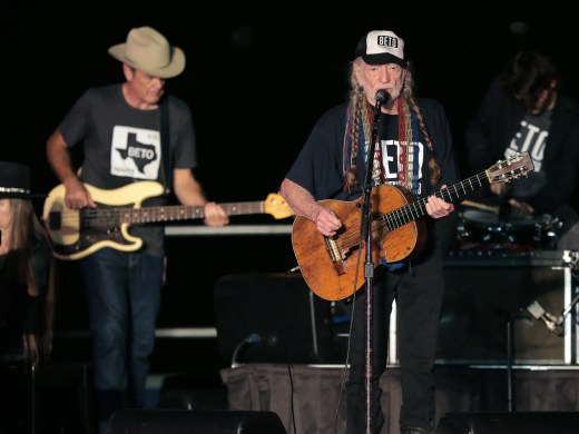 Senate candidate Beto O'Rourke joined Willie Nelson and several other Texas musicians for a rally and concert at Auditorium Shores in Austin. O'Rourke sang along with Willie Nelson during his performance of On The Road Again.