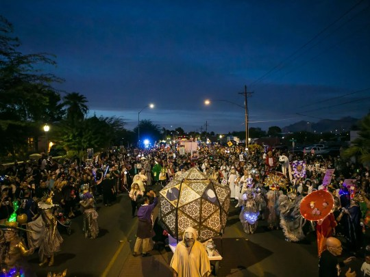 The All Souls Procession takes to the streets of Tuscon in early November.