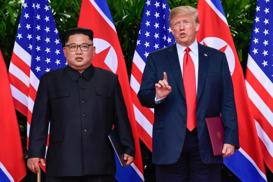 President Donald Trump and North Korean leader Kim Jong Un meet in June in Singapore.
