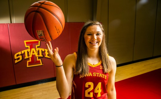 Ashley Joens finished with nine points in Iowa State's close call with Texas on Saturday.