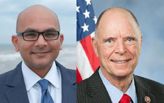 2edb0032-1de8-4402-9e36-679037c42b07-posey_and_patel U.S. House candidates Bill Posey, challenger Sanjay Patel trade political jabs