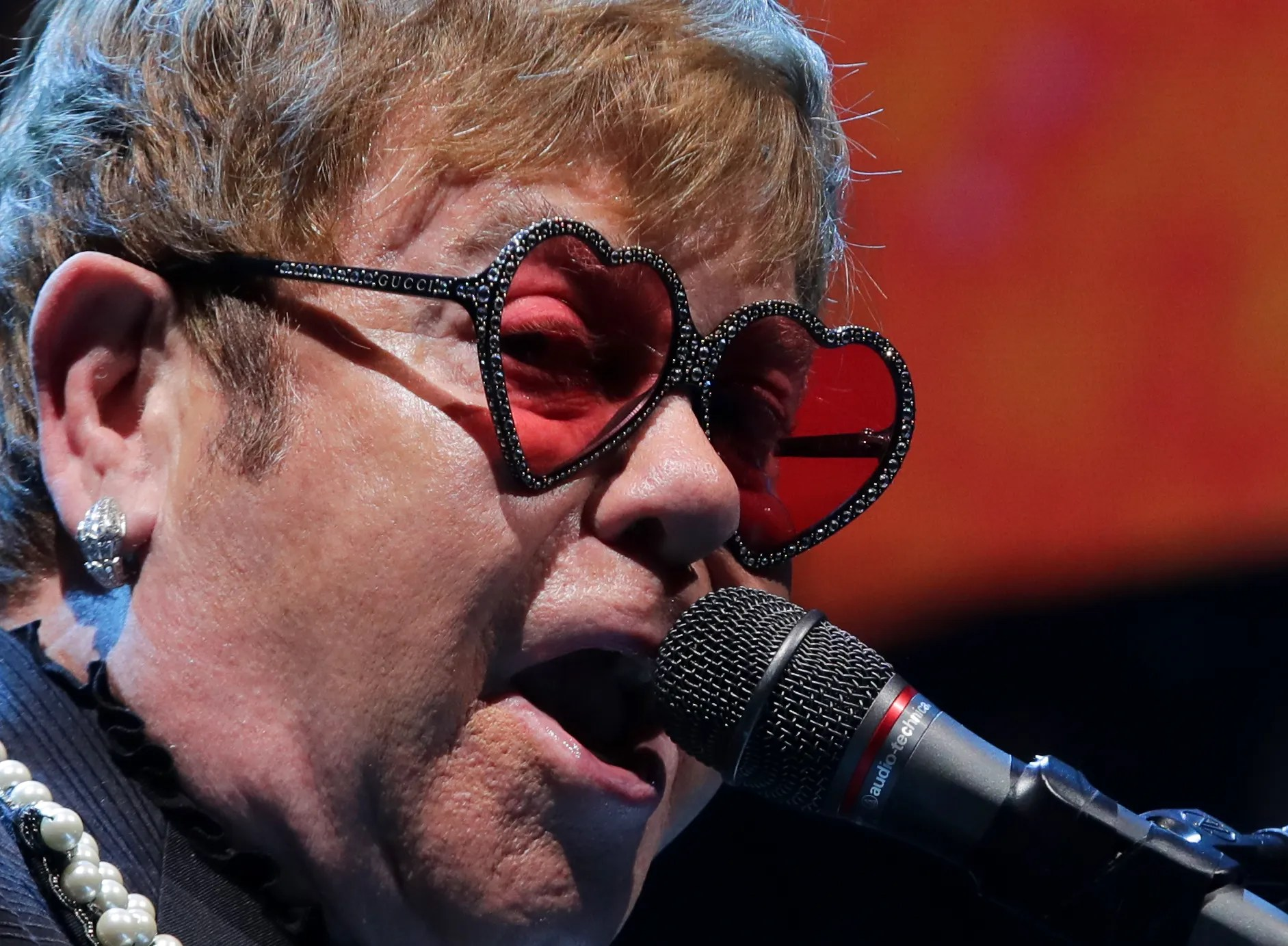Elton john says goodbye in spectacular fashion at the kfc yum center also   farewell to louisville lit up rh courier journal