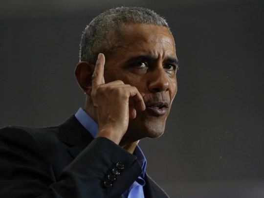 44. Präsident der Vereinigten Staaten Barack Obama spricht während der Michigan Herausholen der Abstimmung Rally von der Demokratischen Partei Michigan am Freitag, 26. Oktober 2018 an der Cass Tech High School in Detroit.