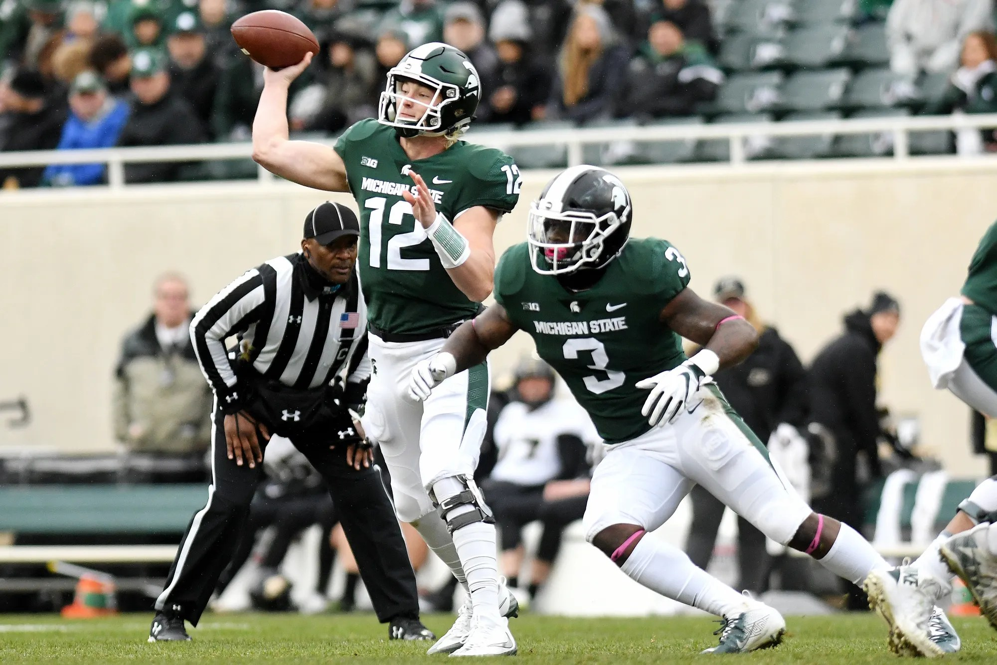 Michigan State football topples Purdue 2313 with backup QB