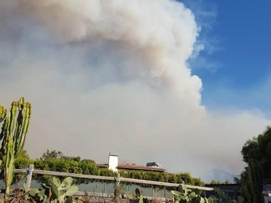 Rauch ist in Malibu of the Woolsey Fire am Freitag, dem 9. November 2018 zu sehen.