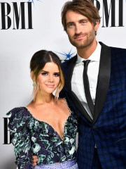 Maren Morris and Ryan Hurd on the red carpet at BMI's 2018 Country Music Awards Tuesday Nov. 13, 2018, in Nashville, Tenn.