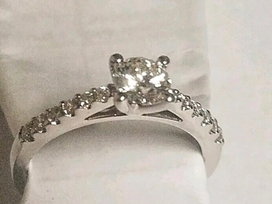 The ring lost by a couple in New York on Nov. 30, 2018.