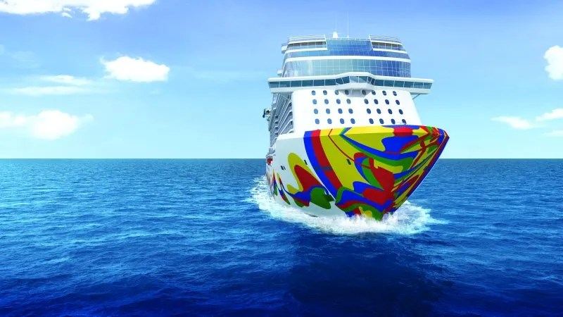 Norwegian Encore Cruise Ship In And Drawings