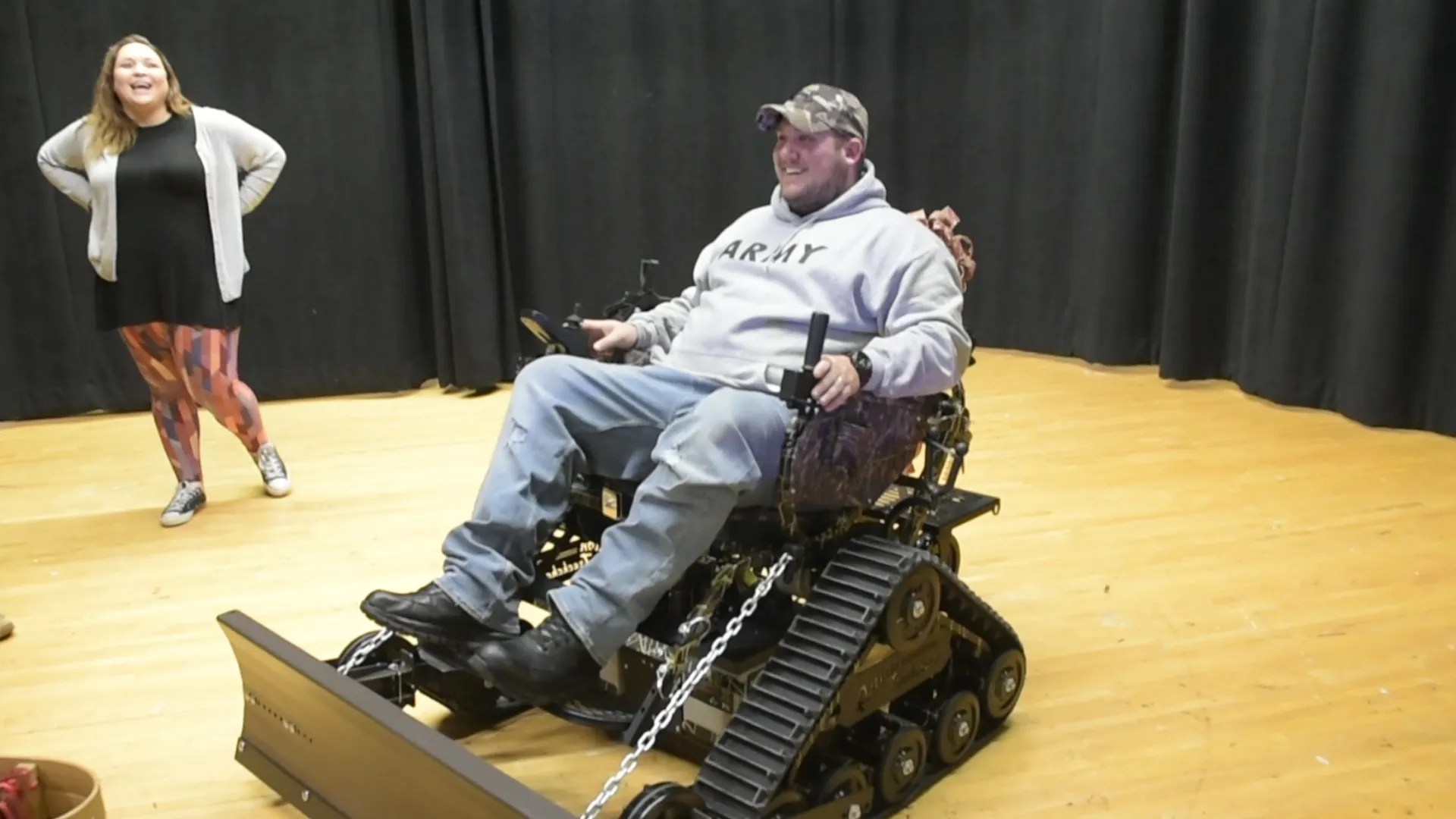 action track chair the chronicles of narnia silver cast hanover veteran surprised with trackchair