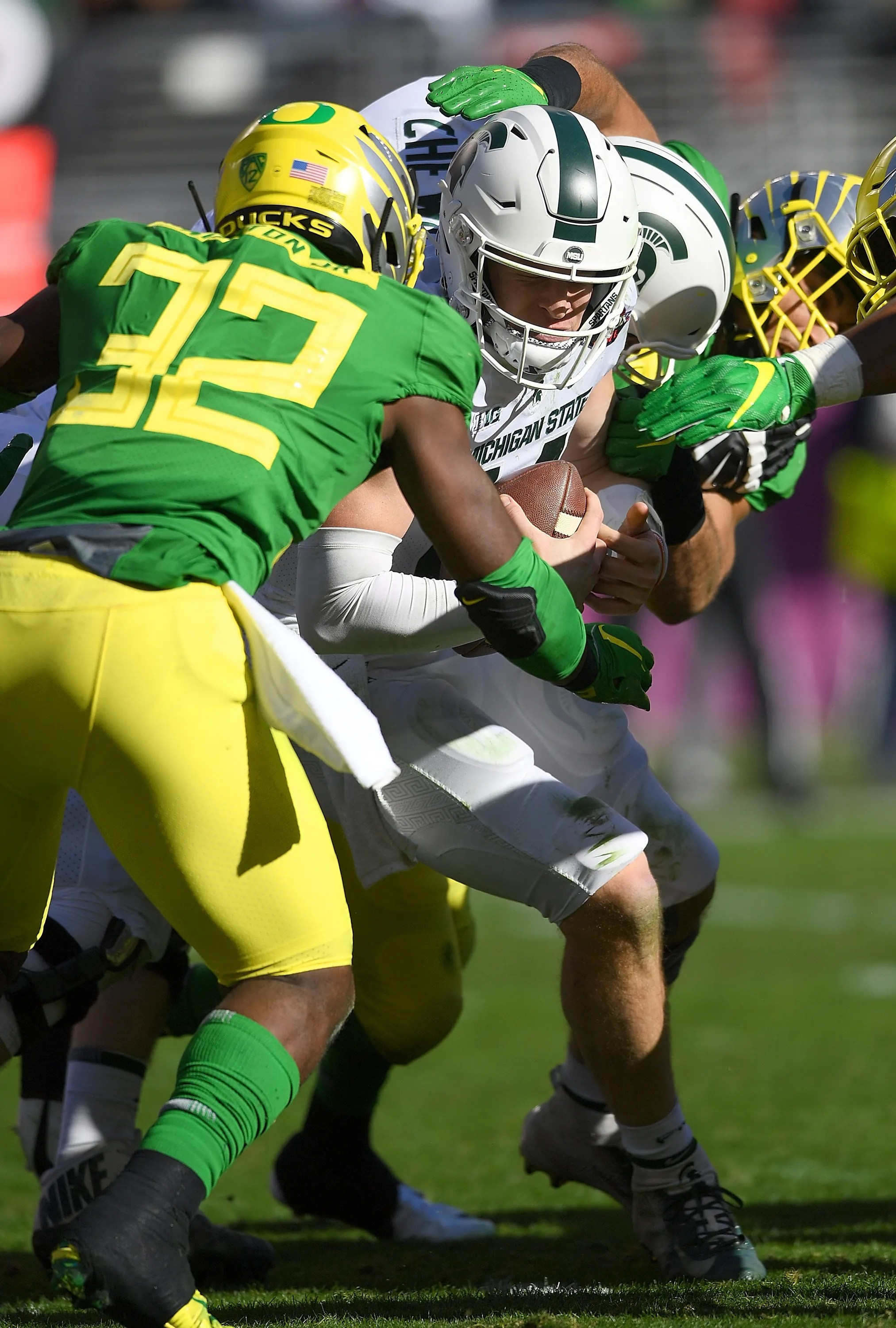 Michigan State Spartans Offense Stumbles Again Oregon