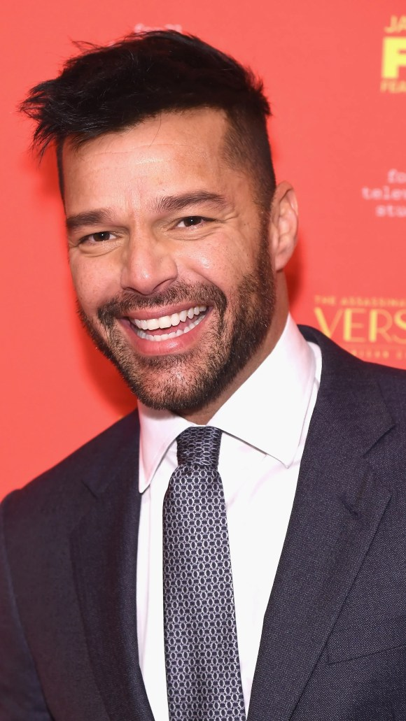 Ricky Martin left news from parent on New Year's Eve.