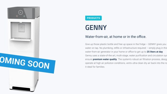 Genny produces water from air