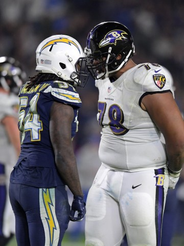 Who will win Sunday's wild-card staredown between the Chargers and Ravens?