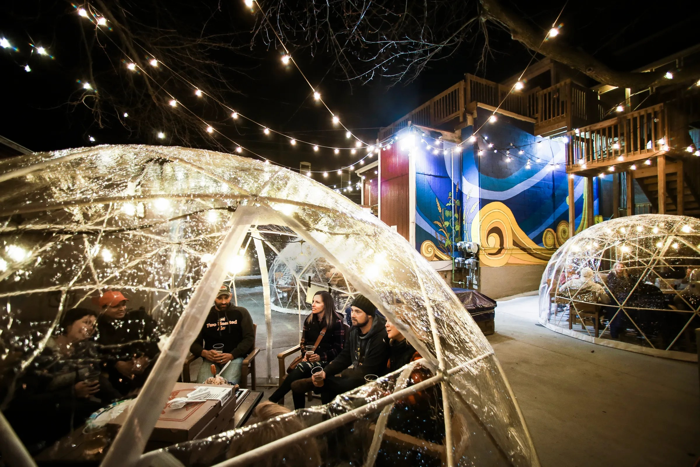 igloos could extend outdoor dining