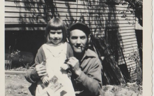 Shirley Soltis shown with her father, Dewitt H. Hayes.