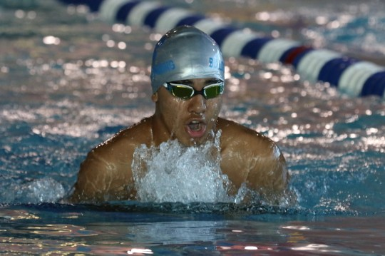 Piero Urteaga of Passaic Tech finished in first place in the 200 Yard Individual Medley.