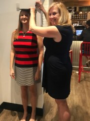 Right-handed Nancy Dagher, Juliana Meek, heads at the top Friends of Tall club in Southwest Florida in December 2018. Meek is the vice president of the club and President is President.