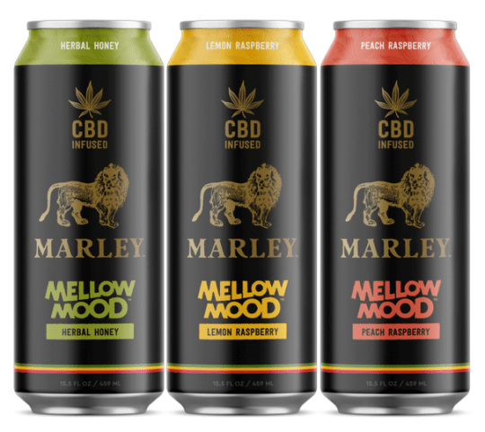 Hitting the market this spring in Colorado, Oregon, Washington, and Michigan are Marley-branded cannabis-infused relaxation beverages. The Marley+CBD Mellow Mood relaxation drinks made with 25 milligrams of CBD.