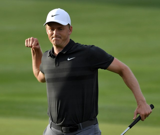 Adam Long Celebrates After Making The Winning Putt On The Th Green Sunday During The Final