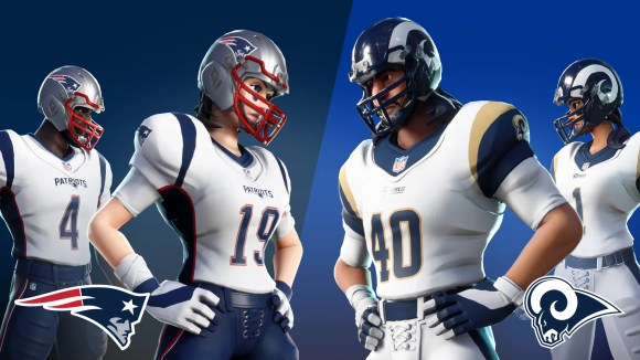 Fortnite is bringing back NFL uniforms just in time for the Super Bowl. In addition to new white uniforms for the teams in the big game, players wearing the New England Patriots and Los Angeles Rams outfits can also compete in a special game mode.
