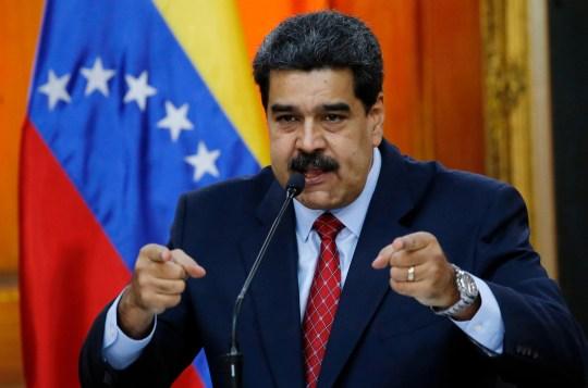 Venezuelan President Nicolas Maduro gives a press conference in Caracas on Jan. 25, 2018.