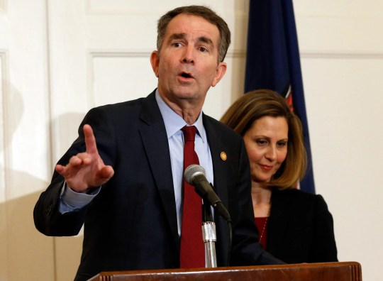 Virginia Gov. Ralph Northam and his wife, Pam.
