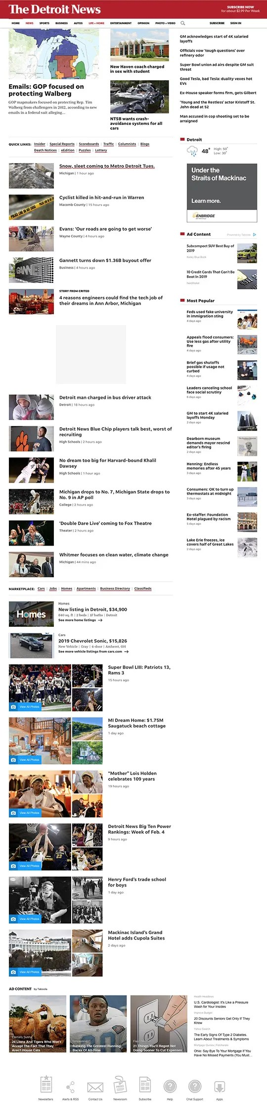 How to navigate the new Detroit News website