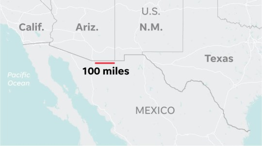 That 100 miles of new wall, in perspective.