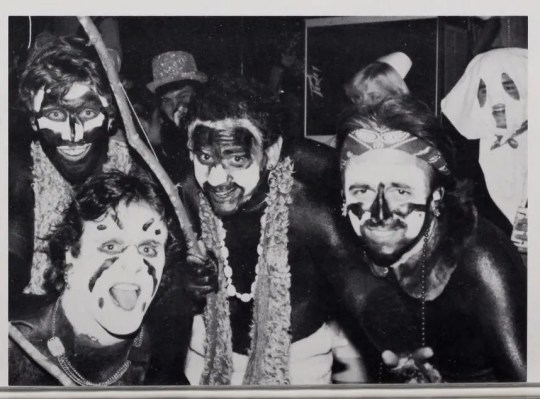 A photo from the Pi Kappa Alpha section of the 1982-1983 yearbook of the University of Mississippi.