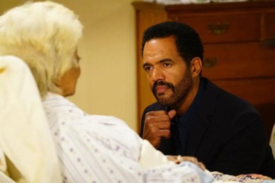 Kristoff St. John performs alongside Nichelle Nichols on the 11,000th episode of