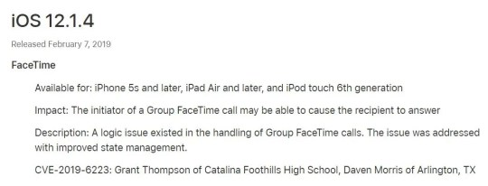 Grant Thompson, 14, of Tucson, was credited in Apple's latest security update for finding a FaceTime bug.