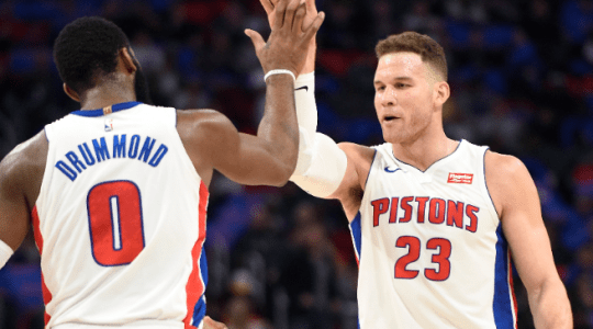 Andre Drummond and Blake Griffin are riding a winning four-game streak, entering the Wednesday with the Celtics game.