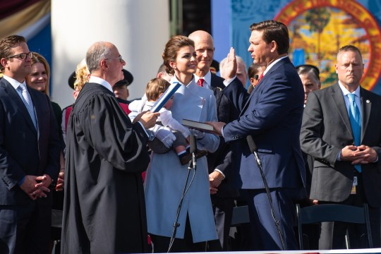 Republican Ron DeSantis will be sworn in Tallahassee on January 8, 2019 as Florida's 46th governor.