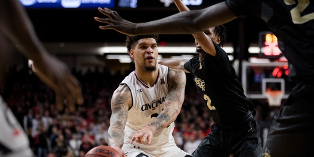 Image result for Cincinnati Bearcats vs. UCF Knights College Basketball 2019