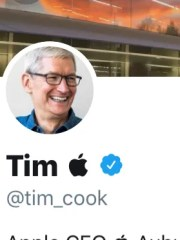 TIm Cook changes name on Twitter