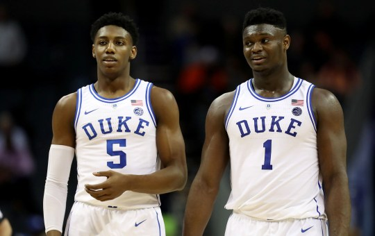 Duke teammates Zion Williamson and RJ Barrett are the national team.