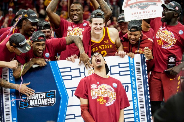 Iowa State (23-11), No. 6 seed in Midwest, Big 12 Conference champion. Eliminated in first round.