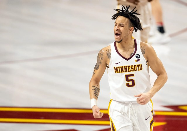 Minnesota (21-13), No. 10 seed in East, at-large bid out of Big Ten Conference. Eliminated in round of 32.