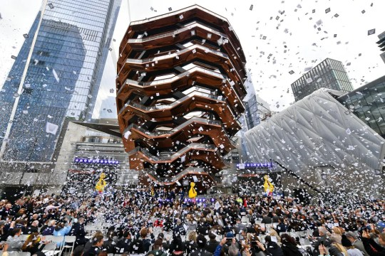 A view of the celebration at Hudson Yards' official opening event on March 15, 2019, in New York City.