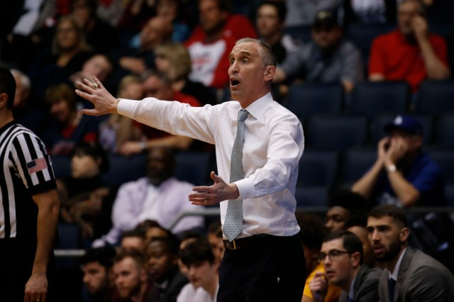 Mar 20, 2019; Dayton, OH, USA; Arizona State Sun Devils head coach Bobby Hurley reacts to play in the second half against the St. John's Red Storm in the First Four of the 2019 NCAA Tournament at Dayton Arena. Mandatory Credit: Brian Spurlock-USA TODAY Sports
