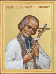 St. John Vianney was a French priest who was known for his generosity, prayerfulness and purity.