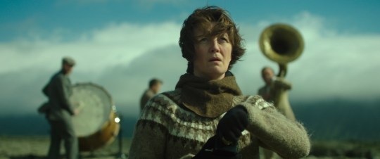"Halldóra Geirharðsdóttir is determined to stop a new heavy-industry development by any means necessary in ""Woman at War."""