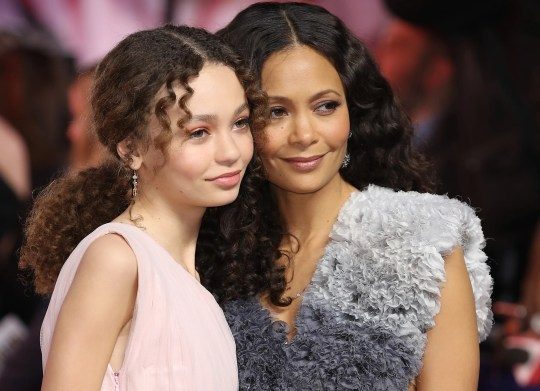 Like mother, like daughter: Nico Parker and Thandie Newton attend the European premiere of 'Dumbo' in London on March 21.