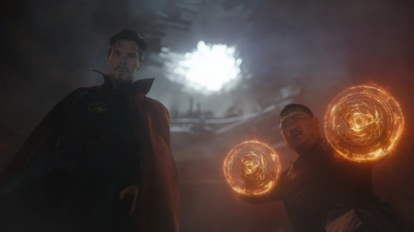 Wong (Benedict Wong, right) is one of Earth's magical protectors alongside Doctor Strange (Benedict Cumberbatch).