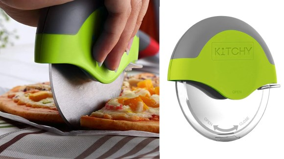 This ergonomic pizza cutter is really amazing.