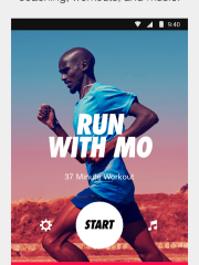 The app includes GPS run tracking, audio guided runs and custom distance challenges.