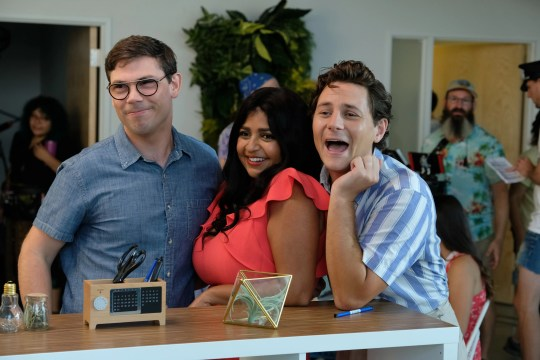 Ryan (Ryan O 'Connell) left with his new friends Kim (Punam Patel) and Carey (Augustus Prew) in Netflix's