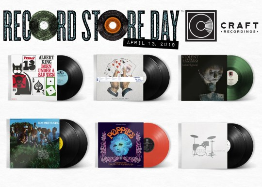 Record Store Day offerings from Craft Recordings include 'Stax Does the Beatles' with artists such as Otis Redding, Booker T. & the MGs, and Isaac Hayes doing Beatles songs, and the mono mix of Albert King's 'Born Under a Bad Sign,' on vinyl for the first time since its original 1967 release.