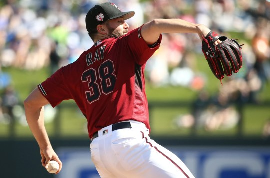 Robbie Ray has a 3.52 ERA over 15 1/3 innings this season for the Diamondbacks.
